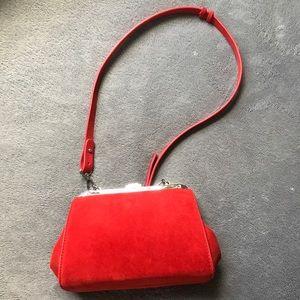 Zara Red Suede Bag